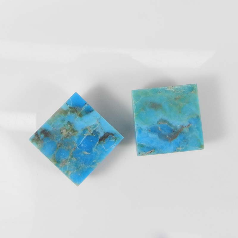 Natural Blue Turquoise 14x14mm Square Cabochon 12.00 Cts