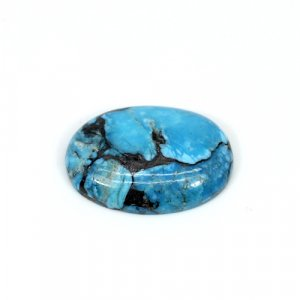 Natural Blue Turquoise Oval Cabochon 24X17mm 15.20 Cts Loose Gemstone