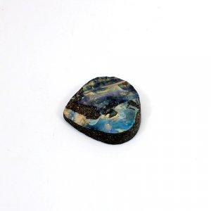 Natural Boulder Opal 22.90 Cts Heart Flat 23mm Loose Gemstone