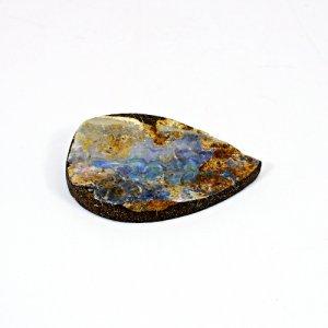 Natural Boulder Opal 34.05 Cts Pear Flat 47x29mm Loose Gemstone