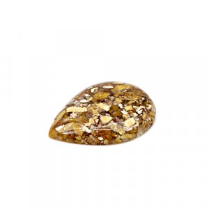 Natural Brecciated Honey Opal 30x22mm Pear Cabochon 21.50 Cts Loose Gemstone