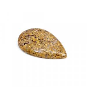 Natural Brecciated Honey Opal 32x20mm Pear Cabochon 23.50 Cts Loose Gemstone