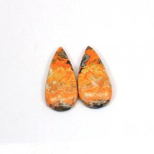 Natural Bumble Bee 27x13mm Pear Cabochon 20.05 Cts 1 Pair Loose Gemstone