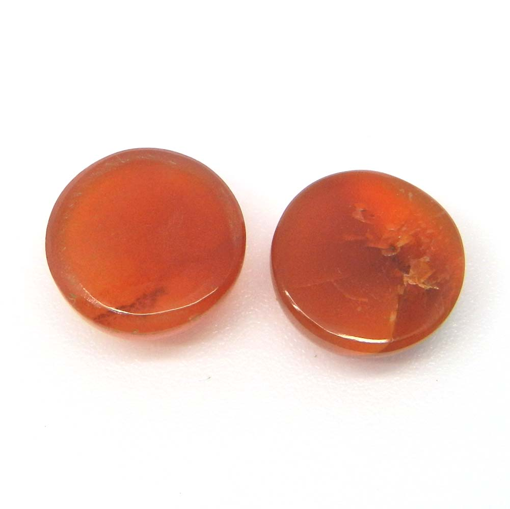 Natural Carnelian 12mm Round Cabochon 6.65 Cts