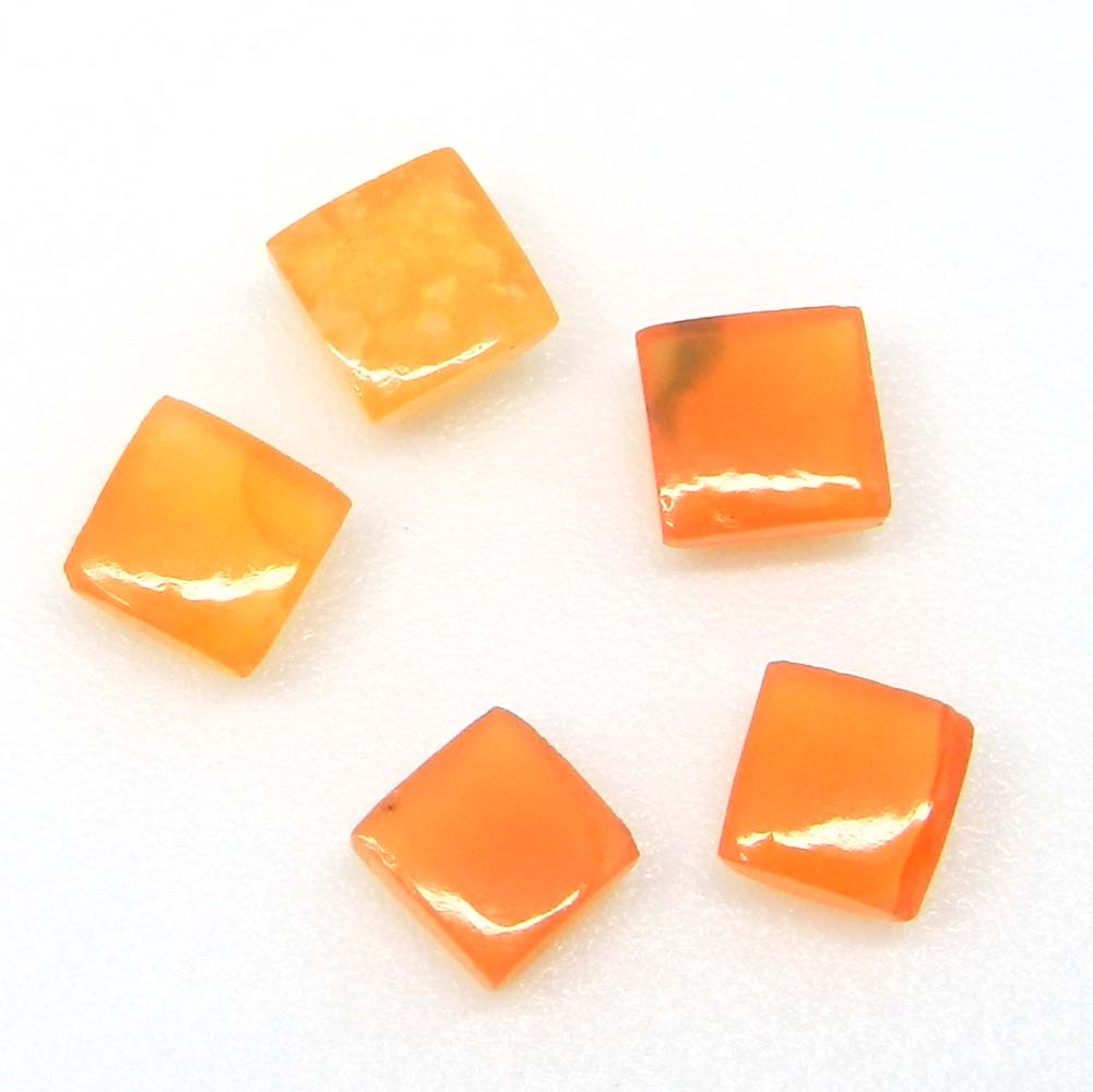 Natural Carnelian 5x5mm Square Cabochon 0.79 Cts