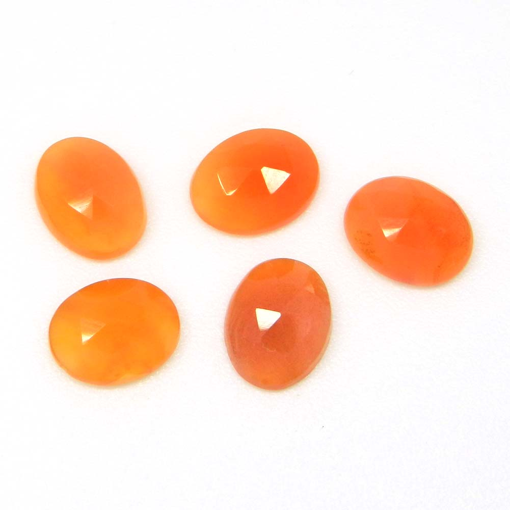 Natural Carnelian 9x7mm Oval Rose Cut Cab 1.55 Cts