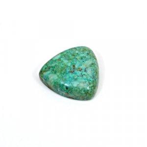 Natural Chrysocolla 18mm Trillion Cabochon 16 Cts Loose Gemstone