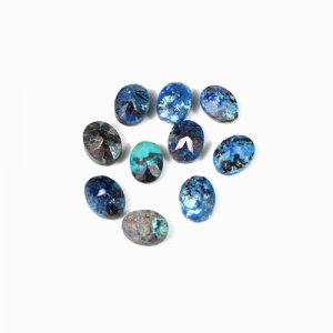 Natural Chrysocolla Gemstone Oval Faceted 6x8mm 1.95 Cts