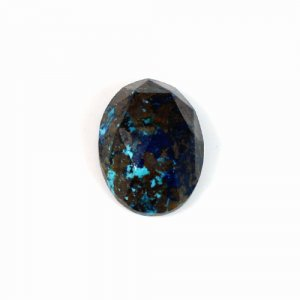 Natural Chrysocolla Gemstone Oval Rose Cut 13x18mm 14.2 Cts