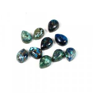 Natural Chrysocolla Gemstone Pear Cabochon 5x7mm 1.15 Cts