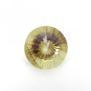 Natural Citrine 16x16mm Round Concave Cut 11.15 Cts