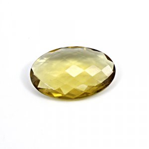 Natural Citrine Oval Checker Cut 26x17mm 15.75 Cts Loose Gemstone