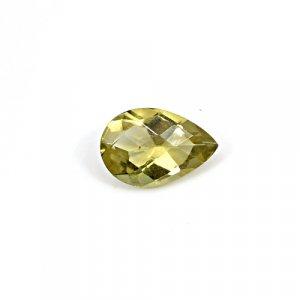 Natural Citrine Pear Checker Cut 11x8mm 2.5 Cts Loose Gemstone