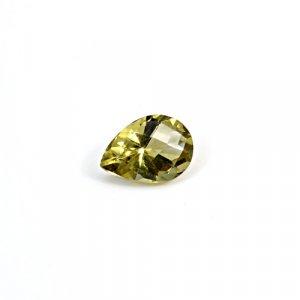 Natural Citrine Pear Checker Cut 11X9mm 3.1 Cts Loose Gemstone