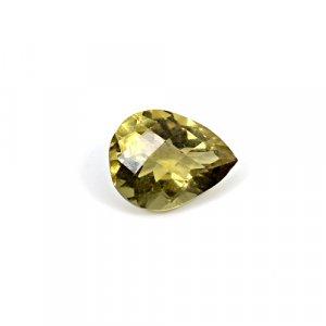 Natural Citrine Pear Checker Cut 12x10mm 4 Cts Loose Gemstone