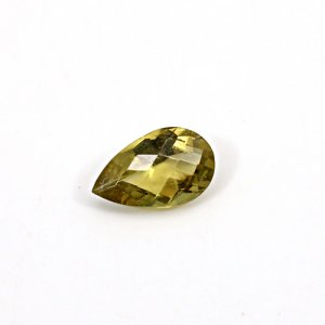 Natural Citrine Pear Checker Cut 12x7mm 2.8 Cts Loose Gemstone