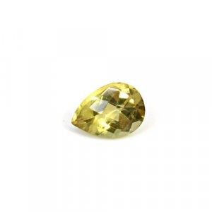 Natural Citrine Pear Checker Cut 12x8mm 3.10 Cts Loose Gemstone
