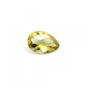 Natural Citrine Pear Checker Cut 12x8mm 3.4 Cts Loose Gemstone