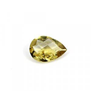 Natural Citrine Pear Checker Cut 12x8mm 3.5 Cts Loose Gemstone