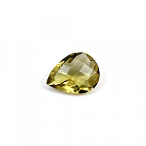 Natural Citrine Pear Checker Cut 12x9mm 3.10 Cts Loose Gemstone