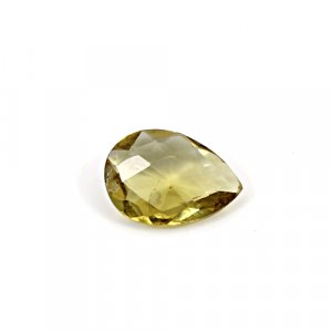 Natural Citrine Pear Checker Cut 13x10mm 3.2 Cts Loose Gemstone