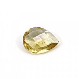Natural Citrine Pear Checker Cut 13x10mm 3.60 Cts Loose Gemstone