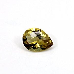 Natural Citrine Pear Checker Cut 13x10mm 4.4 Cts Loose Gemstone