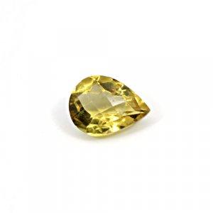 Natural Citrine Pear Checker Cut 13x10mm 4.85 Cts Loose Gemstone