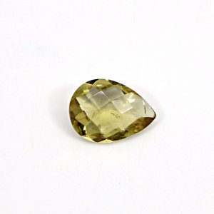 Natural Citrine Pear Checker Cut 14x10mm 4.80 Cts Loose Gemstone