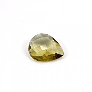 Natural Citrine Pear Checker Cut 14x11mm 4.80 Cts Loose Gemstone