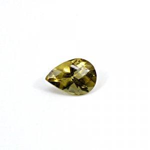 Natural Citrine Pear Checker Cut 14x11mm 5.90 Cts Loose Gemstone