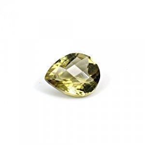 Natural Citrine Pear Checker Cut 14x12mm 6.5 Cts Loose Gemstone