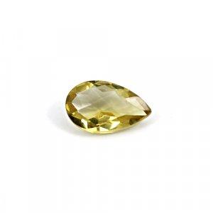 Natural Citrine Pear Checker Cut 14x9mm 4.2 Cts Loose Gemstone