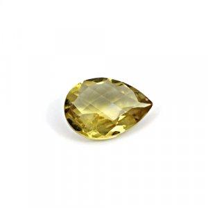 Natural Citrine Pear Checker Cut 15x11mm 5.15 Cts Loose Gemstone