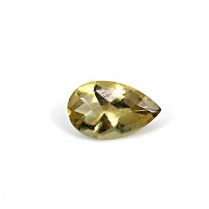 Natural Citrine Pear Checker Cut 15x9mm 4.4 Cts Loose Gemstone