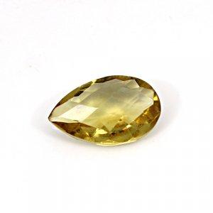 Natural Citrine Pear Checker Cut 17x11mm 6.7 Cts Loose Gemstone