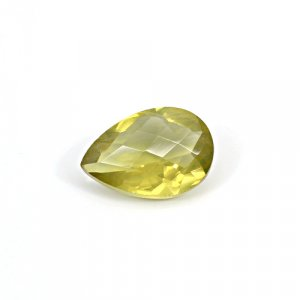 Natural Citrine Pear Checker Cut 17x12mm 8.10 Cts Loose Gemstone