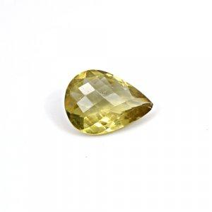 Natural Citrine Pear Checker Cut 17x13mm 7 Cts Loose Gemstone