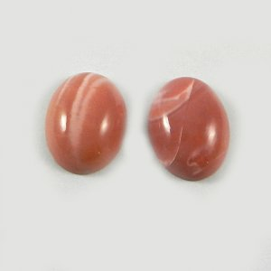 Natural Coated Pink Opal 16x12mm Oval Cabochon 12.10 Cts 1 Pair Loose Gemstone