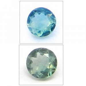 Natural Color Change Alexandrite 3mm Round Cut 0.1 Cts
