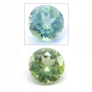 Natural Color Change Alexandrite 4mm Round Cut 0.3 Cts