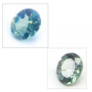 Natural Color Change Alexandrite 4x3.5mm Oval Cut 0.1 Cts