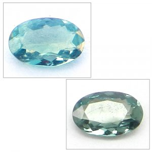 Natural Color Change Alexandrite 5x3mm Oval Cut  0.2 Cts