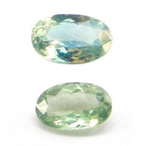 Natural Color Change Alexandrite 5x4.7mm Oval Cut 0.8 Cts