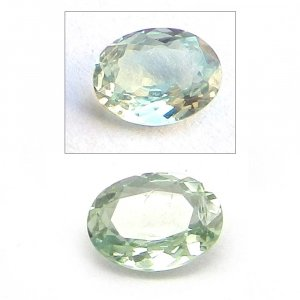 Natural Color Change Alexandrite 6x4mm Oval Cut 0.5 cts