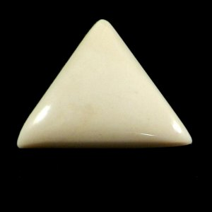 Natural Cream Jasper 22x20mm Trillion Cabochon 12.0 Cts