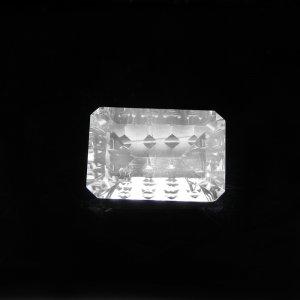 Natural Crystal Quartz 10x15mm Rectangle Concave Cut 7.10 Cts