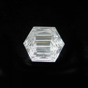 Natural Crystal Quartz 12x14mm Hexagon Concave Cut 7.25 Cts
