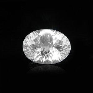 Natural Crystal Quartz 12x16mm Oval Concave Cut 8.95 Cts