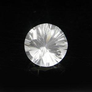 Natural Crystal Quartz 13mm Round Concave Cut 7.90 Cts